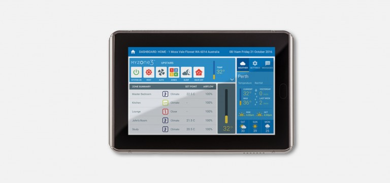 myzone airconditioning zoning tablet